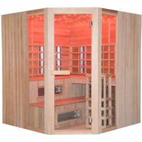 Monisauna Usean saunan kulma 5-6 henkilöä Infrapunasauna 5-6 henkilölle Koko: 1800 x 1800 x 1980 mmPuu: Cedar Heat system