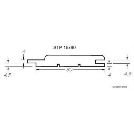Lämpökäsitelty ASP 15x90 saunapaneeli lämpökäsitellyssä haavassa. 15x90mm Pituus: 2,4 m. 6 kpl Pituus: 2,4 m. 6 kpl.