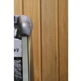 Lämpökäsitelty ASP 15x90 saunapaneeli lämpökäsitellyssä haavassa. 15x90mm Pituus: 2,7 m. 6 kpl Pituus: 2,7 m. 6 kpl.