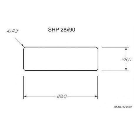 Lämpökäsitelty ASP 28x90 Sauna valmistettu lämpökäsitellystä haavasta 28x90mm Pituus: 2,7 m Pituus: 2,7 m