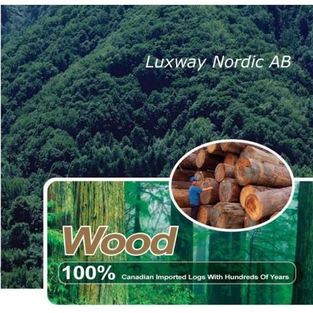 Infrapunasauna on valmistettu hemlock-puusta