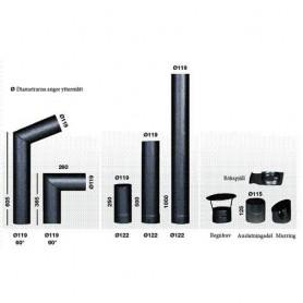Savupiiput ja savuputket Narvi-savuputket 950 / 1000mm