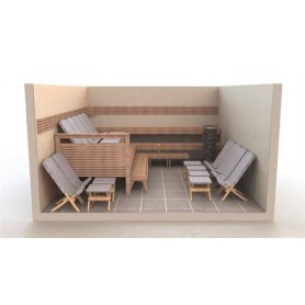 Saunatuoli ja jakkara Footstool, SOFT S-10