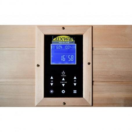 IR-kiiltävä sauna yhdelle henkilölle, ohjauspaneelilla
