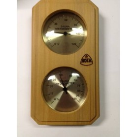 Lämpö- ja kosteusmittari Kota-lämpömittari / kosteusmittari Cedar 221THVD, pystysuora