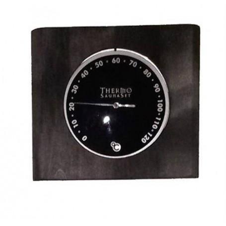 Lämpö- ja kosteusmittari Kosteusmittari mustassa lasissa