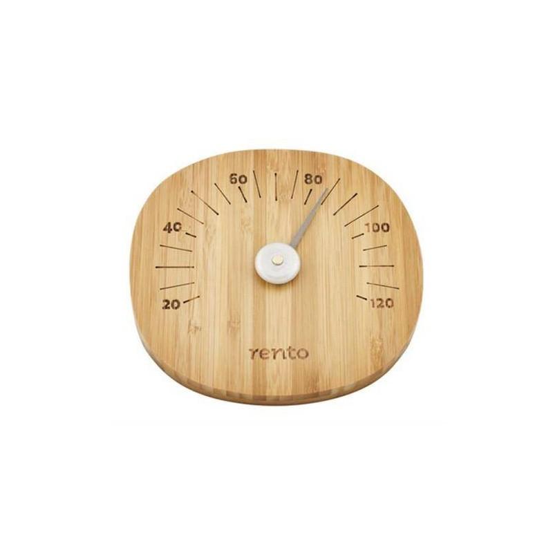 Lämpö- ja kosteusmittari Rento Sauna lämpömittari, tumma bambu