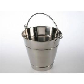Tangot ja kauhat Puu- / saunakauha 12 litraa, ruostumaton
