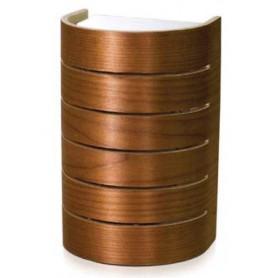 Näytöt Raita-lamppu Raita lämpökäsitellyllä koivu-, seinä- ja nurkkamallissa