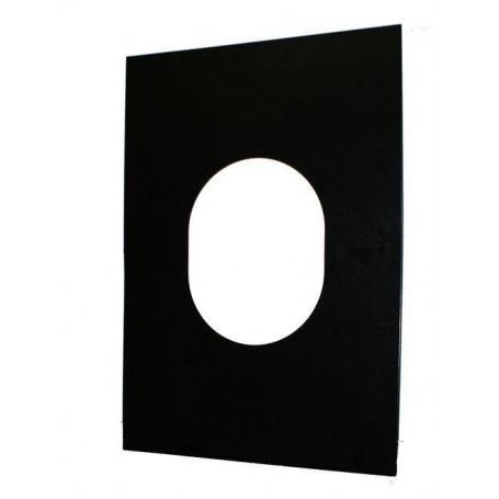 Saunauunien savupiiputarvikkeet Peitelevy kumipistokkeen kiinnittämistä varten. musta