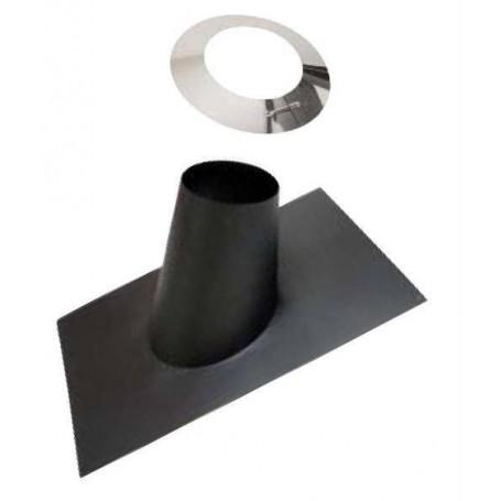 Saunauunien savutarvikkeet Sadekaulus, musta 250 mm