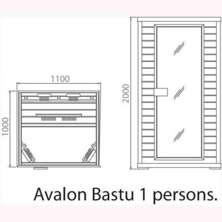Lähtevät tuotteet Sauna Avalon 1 henkilön setri