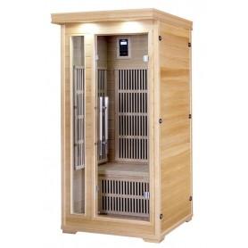 IR-sauna 1 hengelle. Koko: 900 x 900 x 1900 mm