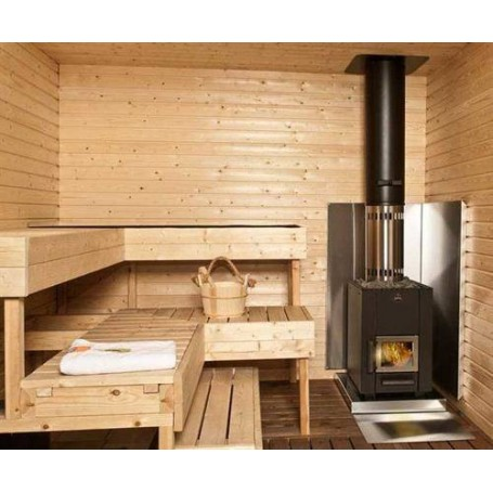 Lisävarusteet puulämmitteisiin kiukaisiin. Seinäsuojalevy ruostumaton teräs 750x1150