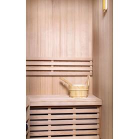 Sauna Perinteinen klassikko 2 hengelle Perinteinen sauna 2 hengelle.Koko: 1200 x 1100 x 1900 mmPuu: Puoli kansi