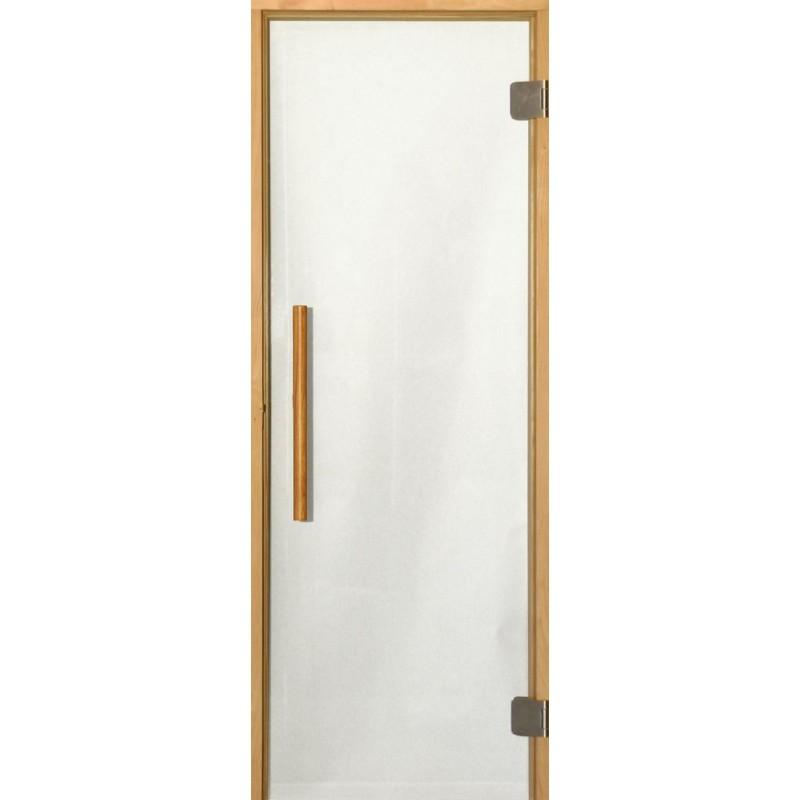 Saunaovien koko 7x20 Saunaoven 7x20 Premium, kirkas lasi ja alkarmi Kirkas lasiKarm al