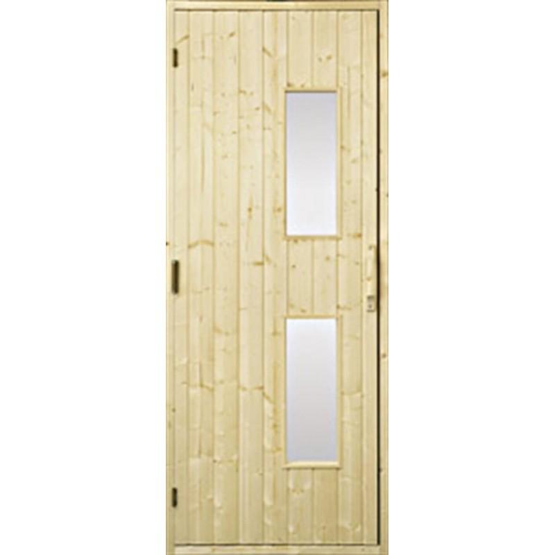 Puiset saunan ovet Saunan ovi 7x20 puu, kirkas lasi Gran Clear lasi
