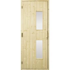 Puiset saunan ovet Saunan ovi 9x20 puu, kirkas lasi Gran Clear lasi