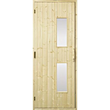 Puiset saunan ovet Saunan ovi 9x21 puu, kirkas lasi Gran Clear lasi