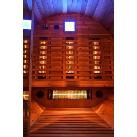 Ulkosauna Infrapunasaunabaari Cedar-puusta infrapunalämmöllä Infrapunasauna ohut 3 hengelle Koko: 2024 x 1500 x 2070 m