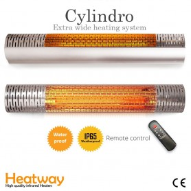 Patio lämmitin HeatWay Cylindro 2000W Silver