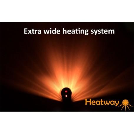 Patio lämmitin HeatWay Cylindro 2000W samppanja