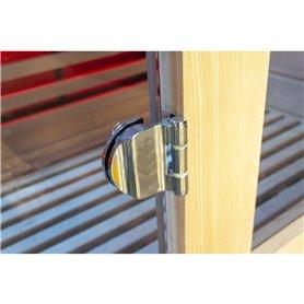 Kromattu sarana saunan oven karkaistua lasia