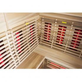 Sauna Infrapuna 5-8 henkilölle Sauna Relax Lux Vasen seetri Infrasauna 5-6 henkilölle. Koko: 2100 x 1400 x 2000 mmPuu