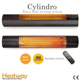 Terrassvärmare HeatWay Cylindro 2000W Svart 2795 - 1