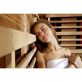Infrapunasauna 5-8 hengelle Sauna Relax Lux Oikea setri Infrasauna 5-6 henkilölle Koko: 2100 x 1400 x 2000 mmTr