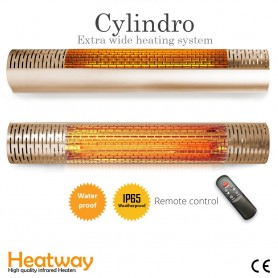 Terrassvärmare HeatWay Cylindro 2000W Champagne