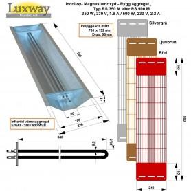 IR-Incolloy-heijastimet IR Incolloy 350W RS -paikka: Takaosa, sivuväri: harmaa, punainen tai musta