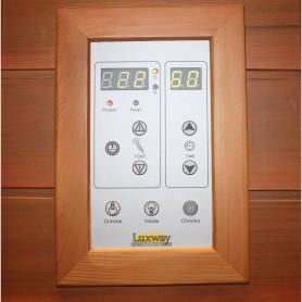 Sauna Infrapuna 3-4 henkilölle Delphi 4 henkilöä Infrasauna 4 henkilölle Koot: 1800 x 1200 x 1900 mmPuu: HemlockWarms