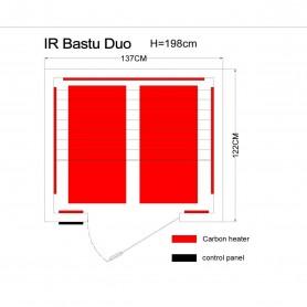Infrapunasauna 2 hengelle Professional Duo Ceder infrapunasauna 2 hengelle Koot: 1370 x 1220 x 1980 mmPuu: Ce