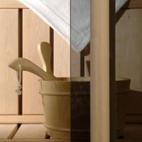 Saunaovien koko 8x21 Saunaoven koko 8x21 Classic, harmaa lasi ja mäntykehys