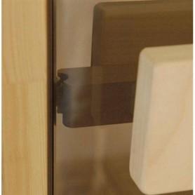 Saunaovien koko 9x21 Saunaoven 9x21 Classic harmaasävylasilla ja mäntykehyksellä